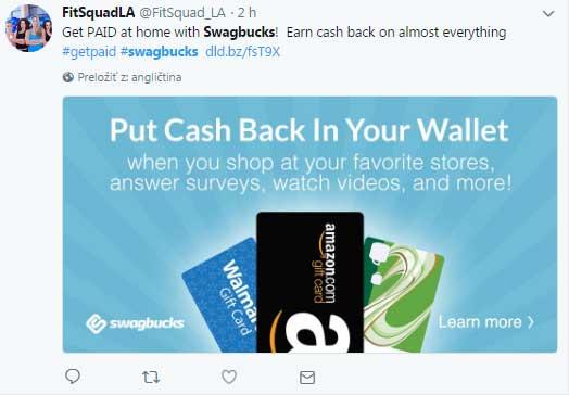 swagbucks tweets on twitter